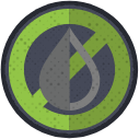Droplet with cross through it icon